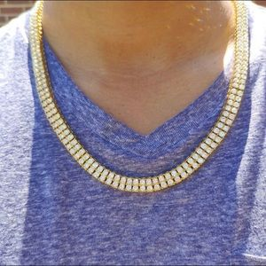 Other - Gold Double Row Tennis Chain 10mm